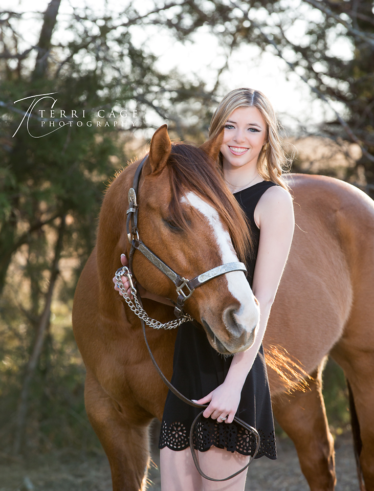 Senior with horse portrait