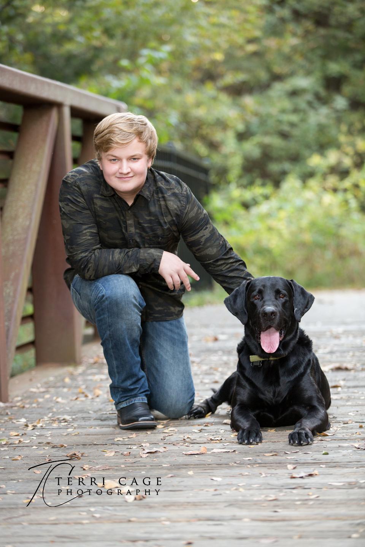 senior guy with dog