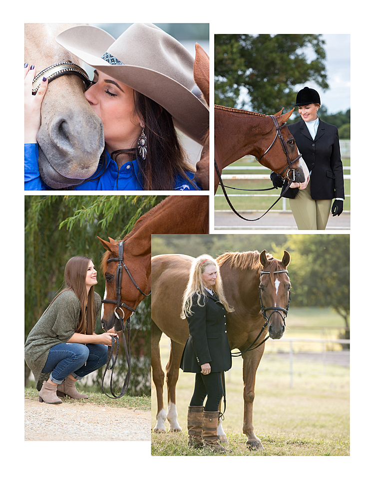 DetailsDepending on your discpline, you may want to braid or band your horse's mane. It gives a nice polished  look. Right before your session, have someone groom your horse with a soft brush and use a towel to wipe the horse's head, nose, ears and around the eyes. You can never have enough fly spray; apply  some before and several times during the session. During the session, have a grooming bag with a soft  brush, towel, oil, mane/tail brush and fly spray for touch-ups during the session. If your session is  during feeding time, allow your horse to eat somebefore.