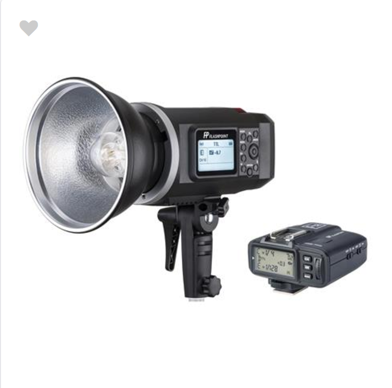 Flashpoint XPLOR 600 HSS TTL Battery-Powered Monolight for Canon with Transmitter. I have 3 of these, one manual and one ttl.