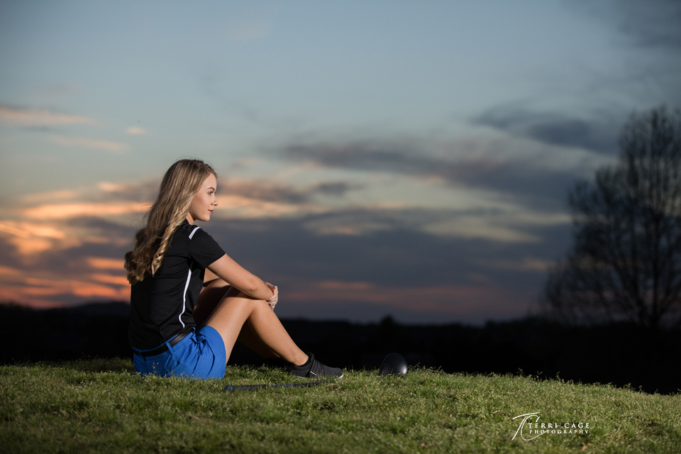 Senior with a Sunset