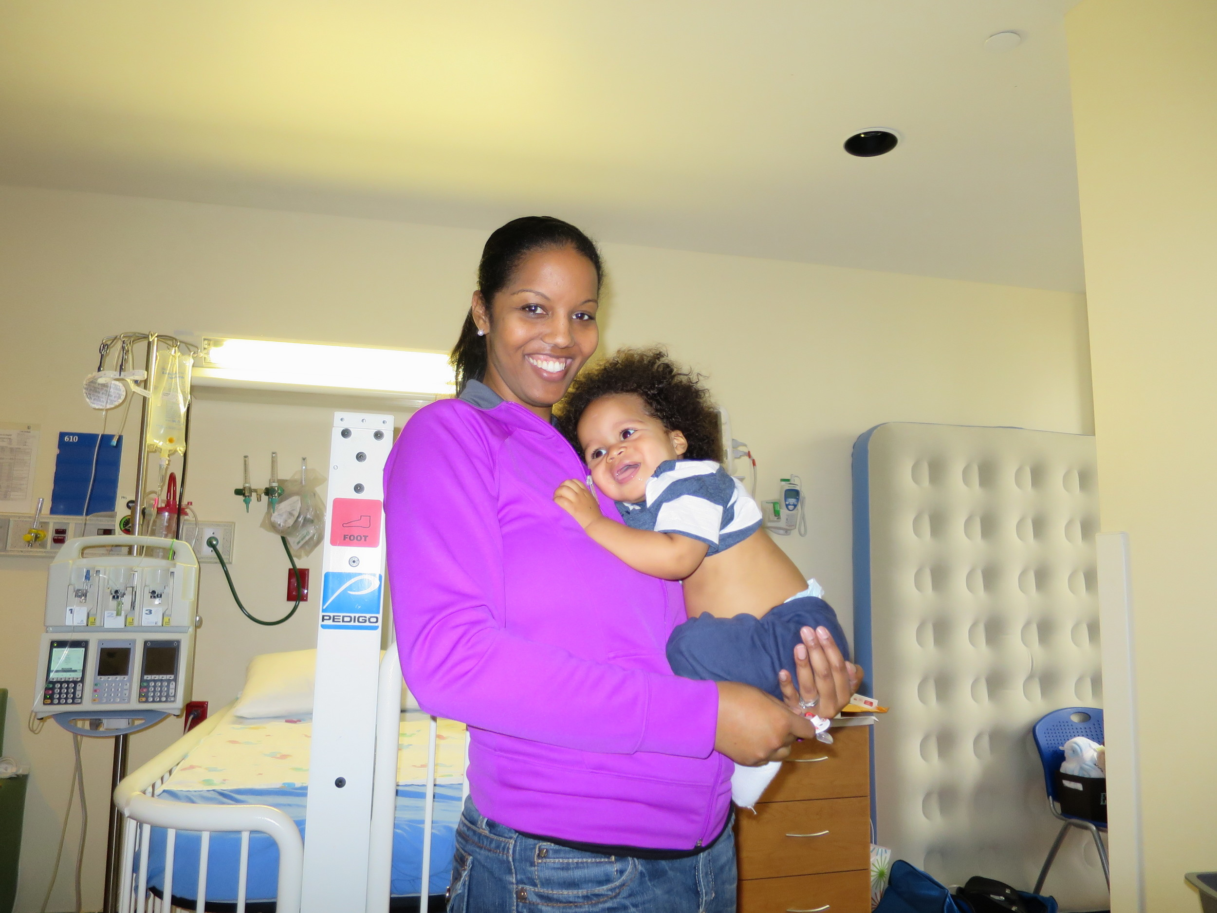 Treatment Day 7: Mommy and Elliott