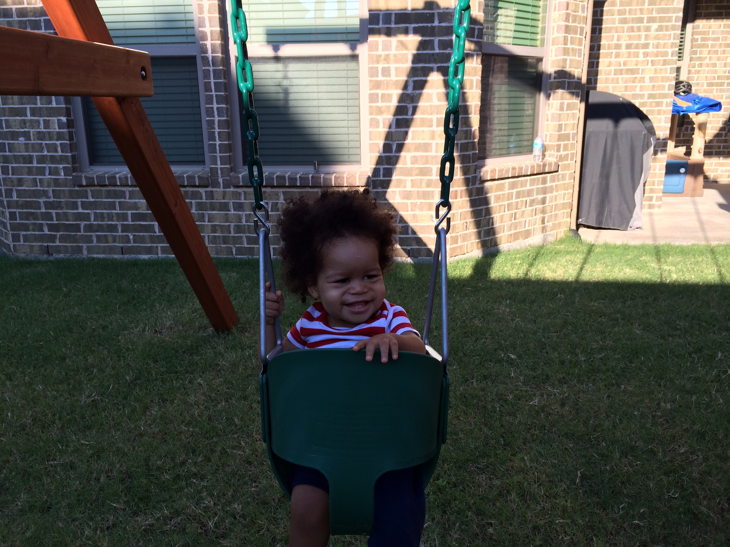 I knew he would like the swing once he started feeling better.