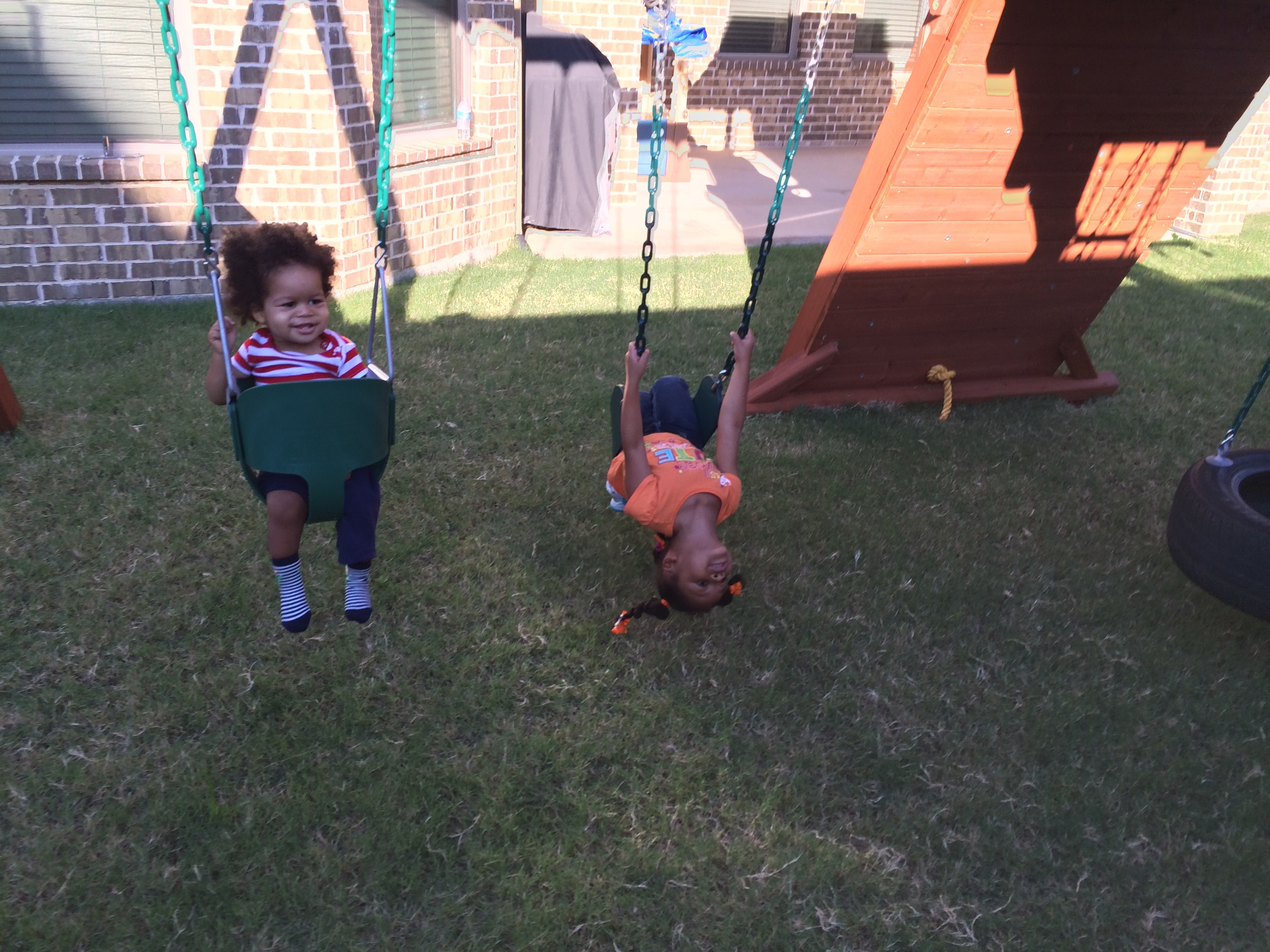 Laurel loved that Elliott joined her outside.
