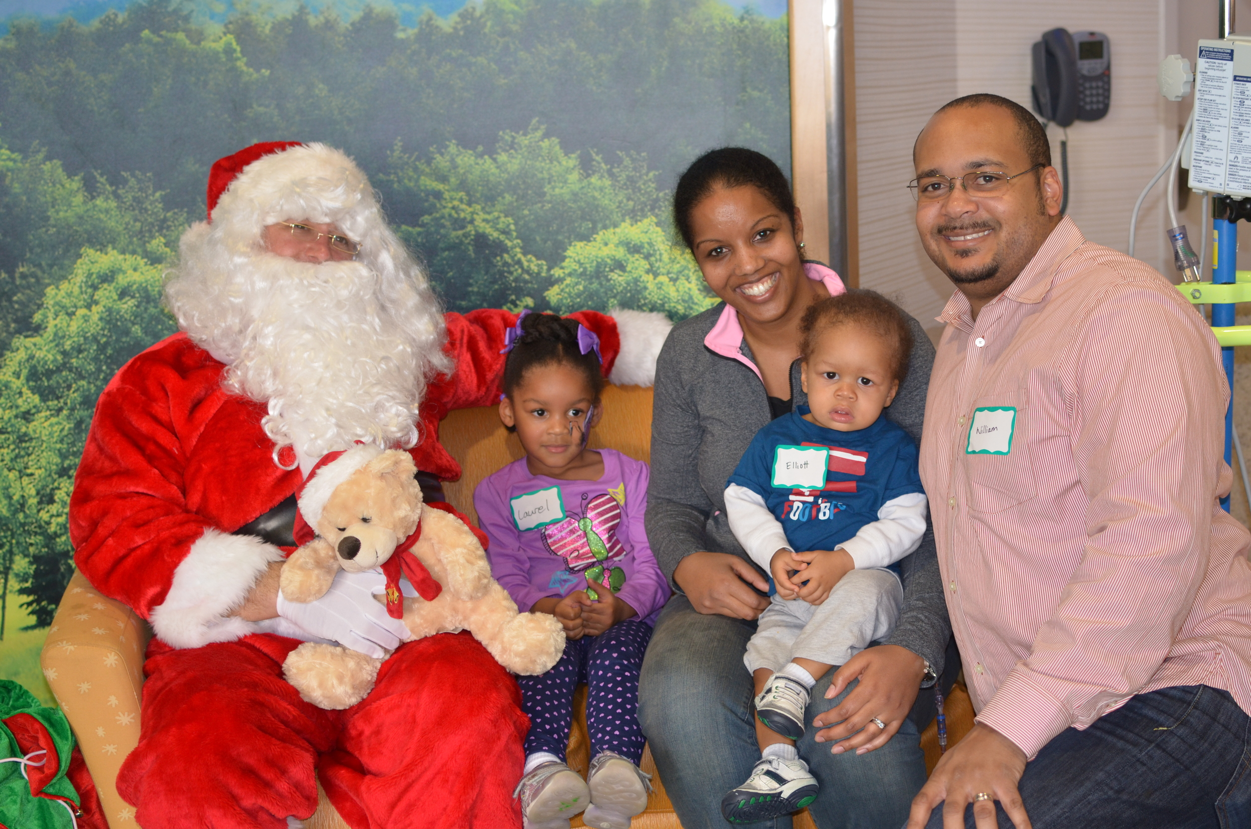 Day 135: Family photo with Santa during Christmas party