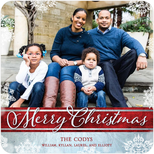 The Cody family Christmas card. As always, they were sent out late.