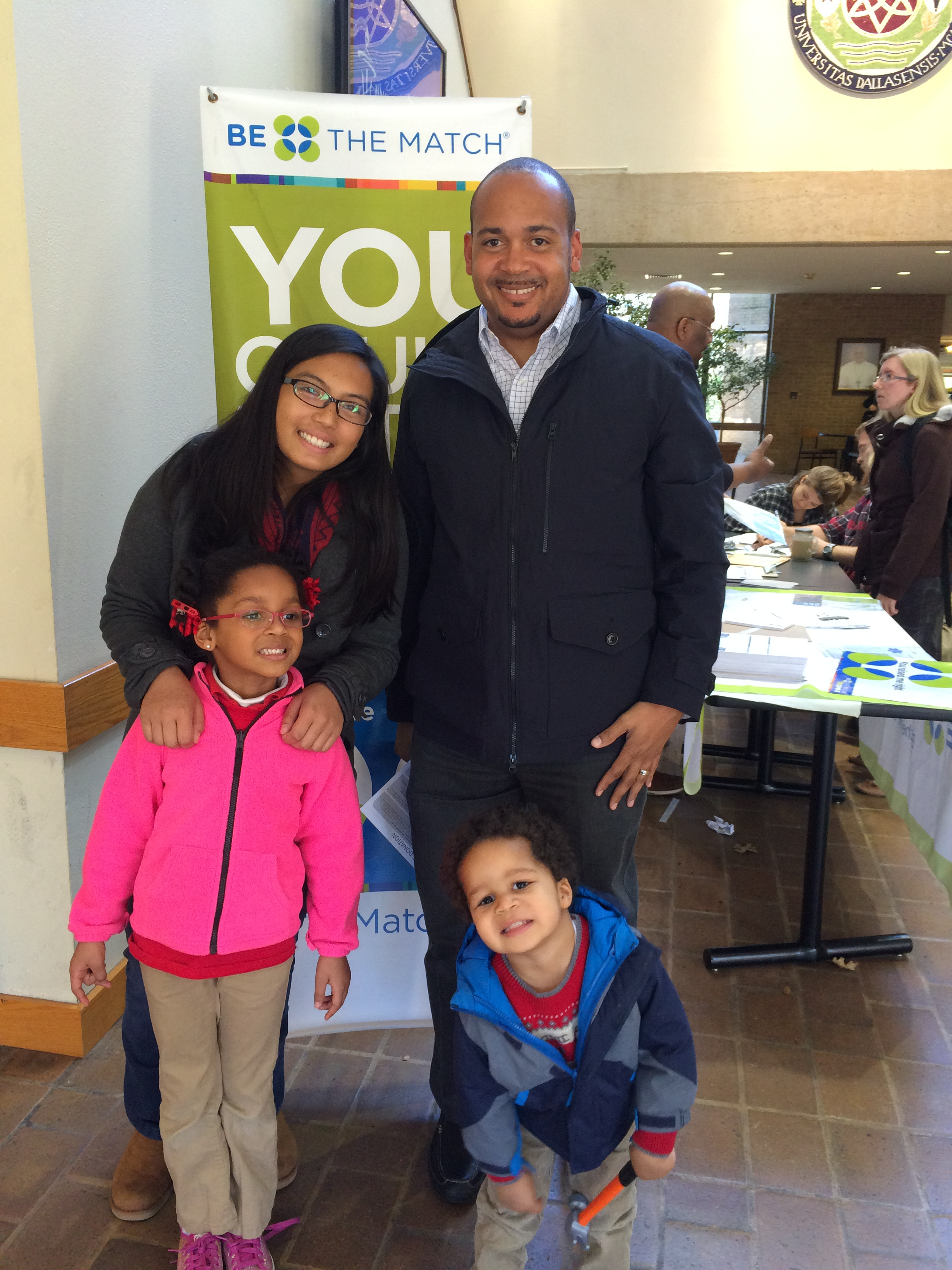 Day 610: One of my students holds a bone marrow drive after battling lymphoma for the 4th time
