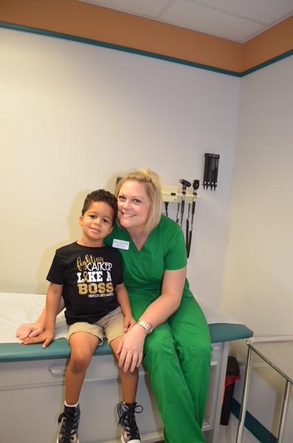 Elliott's favorite nurse, Amanda. She's the best ever!