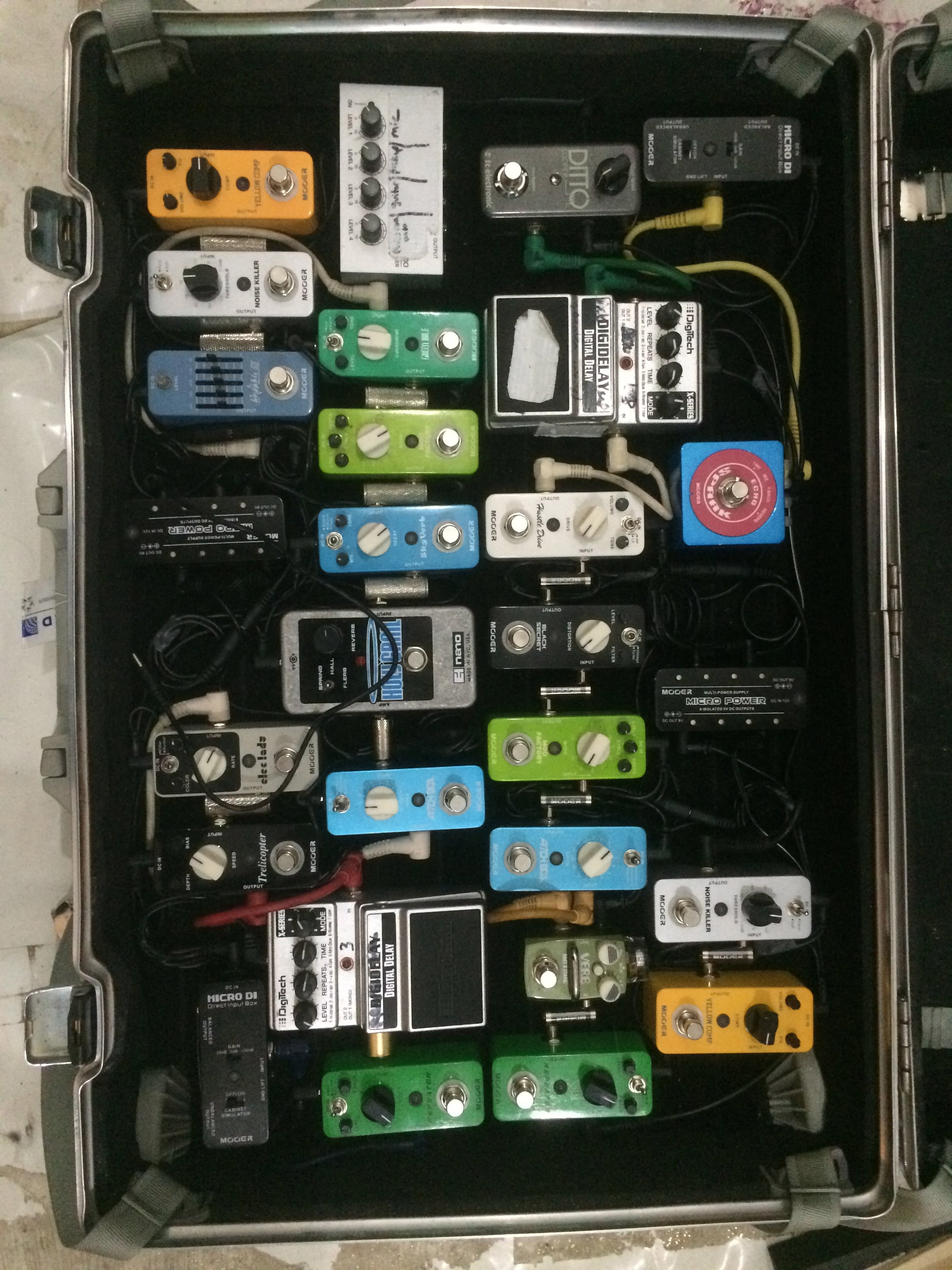 new pedal boards packed nicely for touring