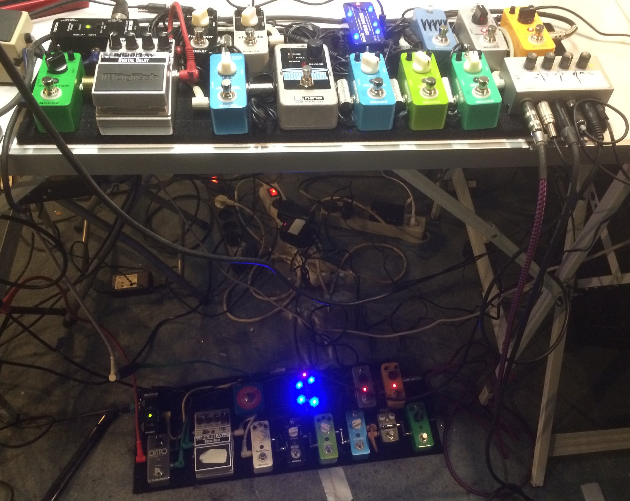 the 2 new pedal boards