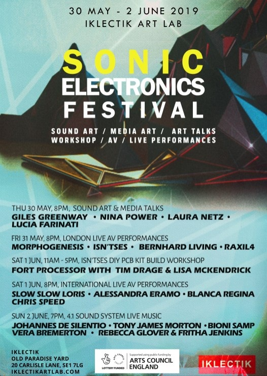 June 1, 2019 - Sonic Electronics Festival 2019Event Link20 Carlisle Lane, London, Great Britain