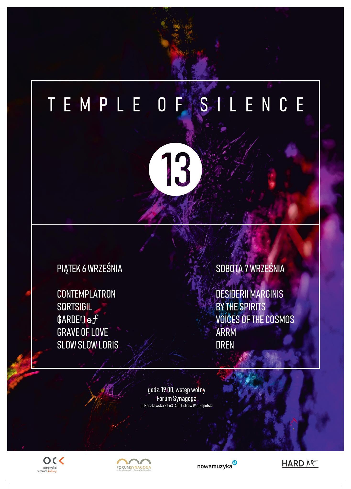 Sept 6, 2019 - Temple Of Silence vol13 at Forum SynagogaEvent Linkul.Raszkowska 21, 63-400 Ostrów Wielkopolski, Poland