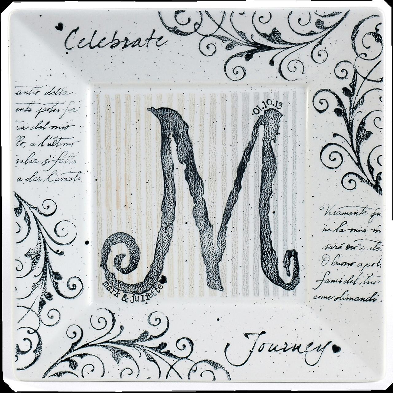 Monogram Wedding Platter