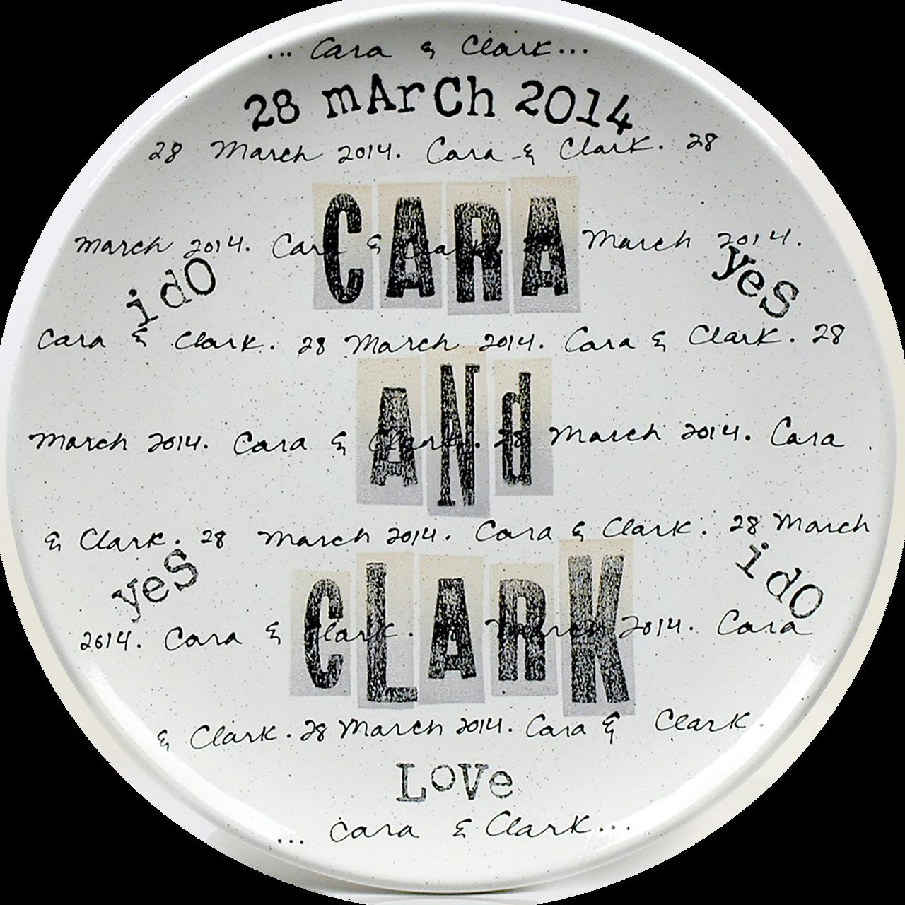 Cursive Name Wedding Platter
