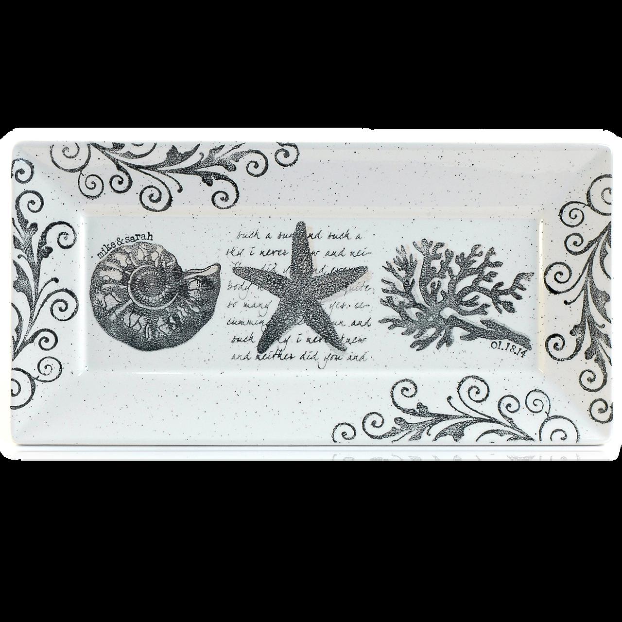 Coastal Wedding Rectangle Platter