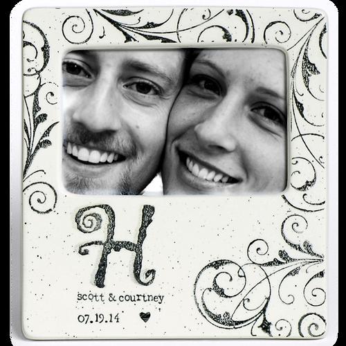 Monogram Wedding Photo Frame