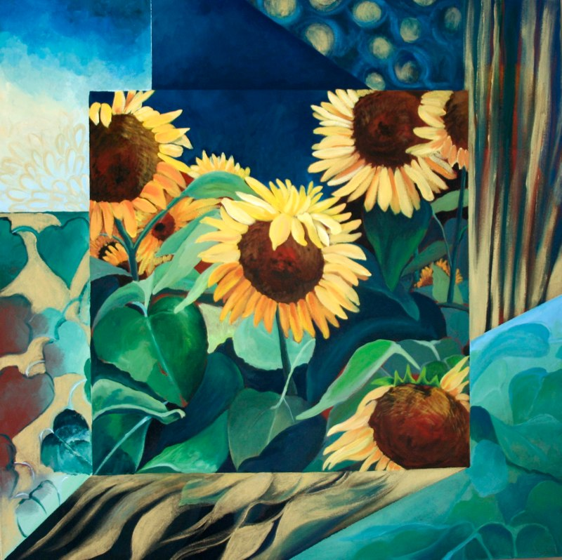 Sunflowers inspired by Klimpt.jpg