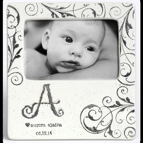 Monogram Baby Photo Frame