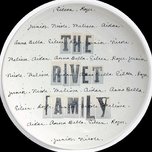 Cursive Family Name Platter