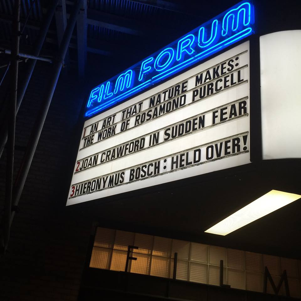 Film-Forum-marquee-Rosamond-Purcell-Kusiak-Music-soundtrack