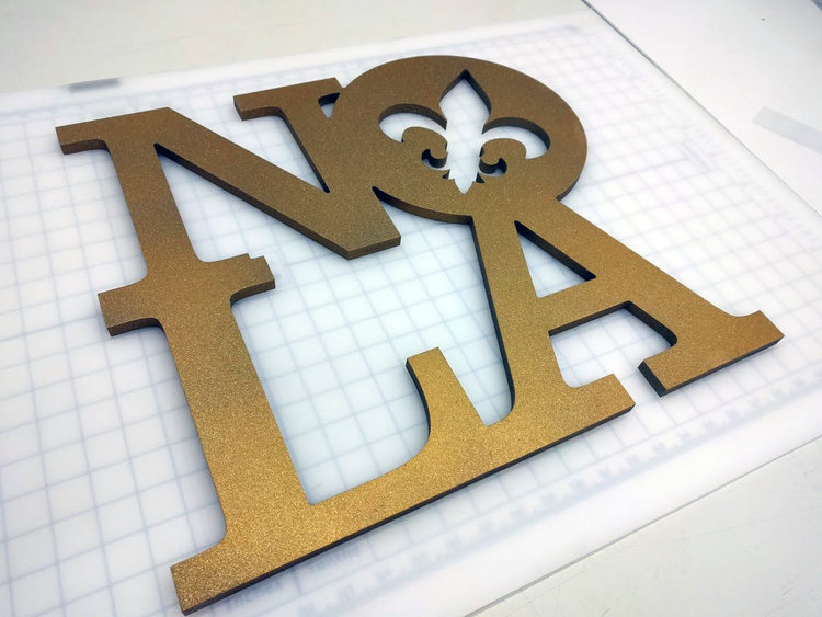 Custom CNC Routed and Painted Dimensional Lettering.