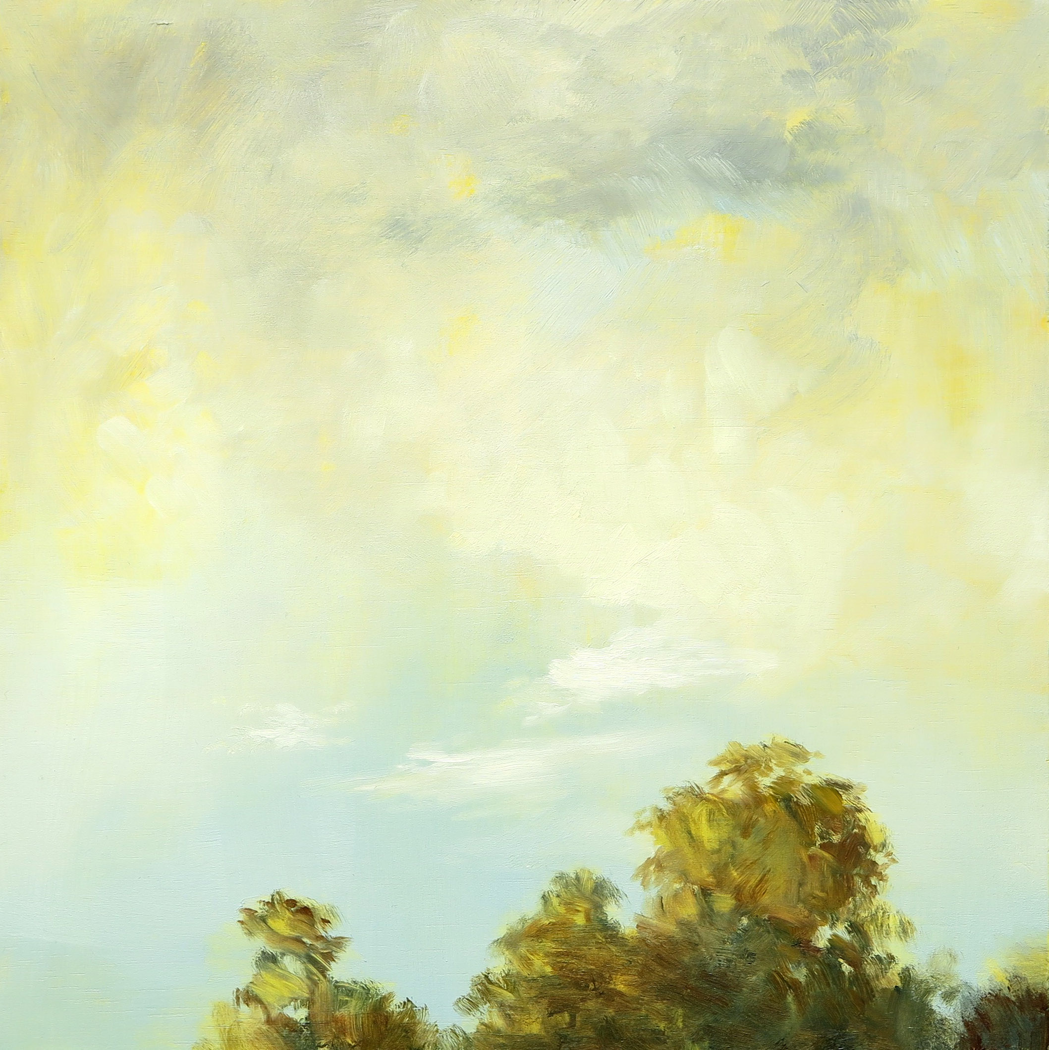 Autumnal Afternoon I, Oil on Board, 29 x 29cm, Sold