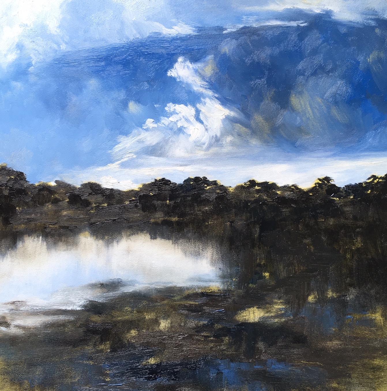 Into the Deep, Oil on canvas, 30 x 30cm, $880