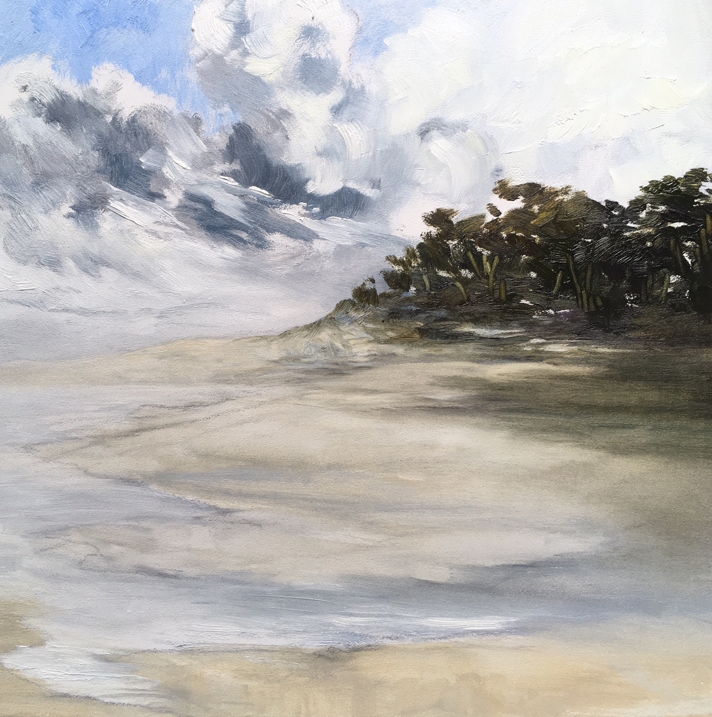 Shifting Sands, Oil on board, 30 x 30cm, Sold