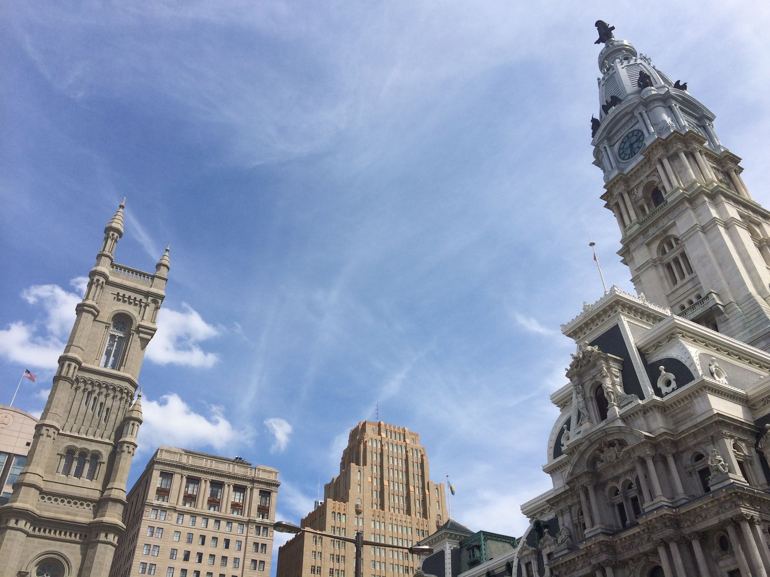 Philly Town Hall Skyline
