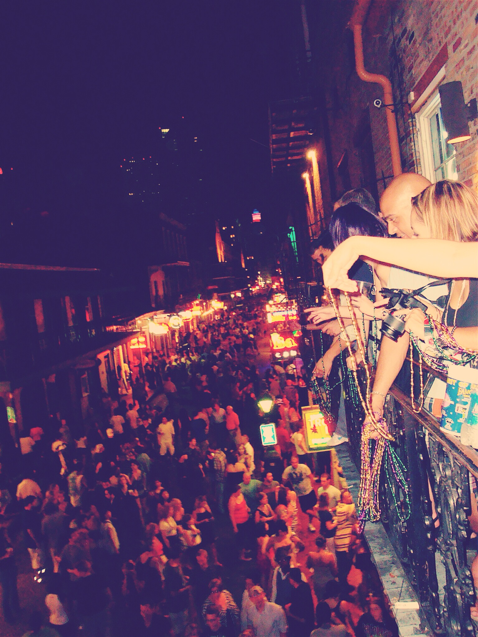 Beads for Mardis Gras on Bourbon Street, New orleans