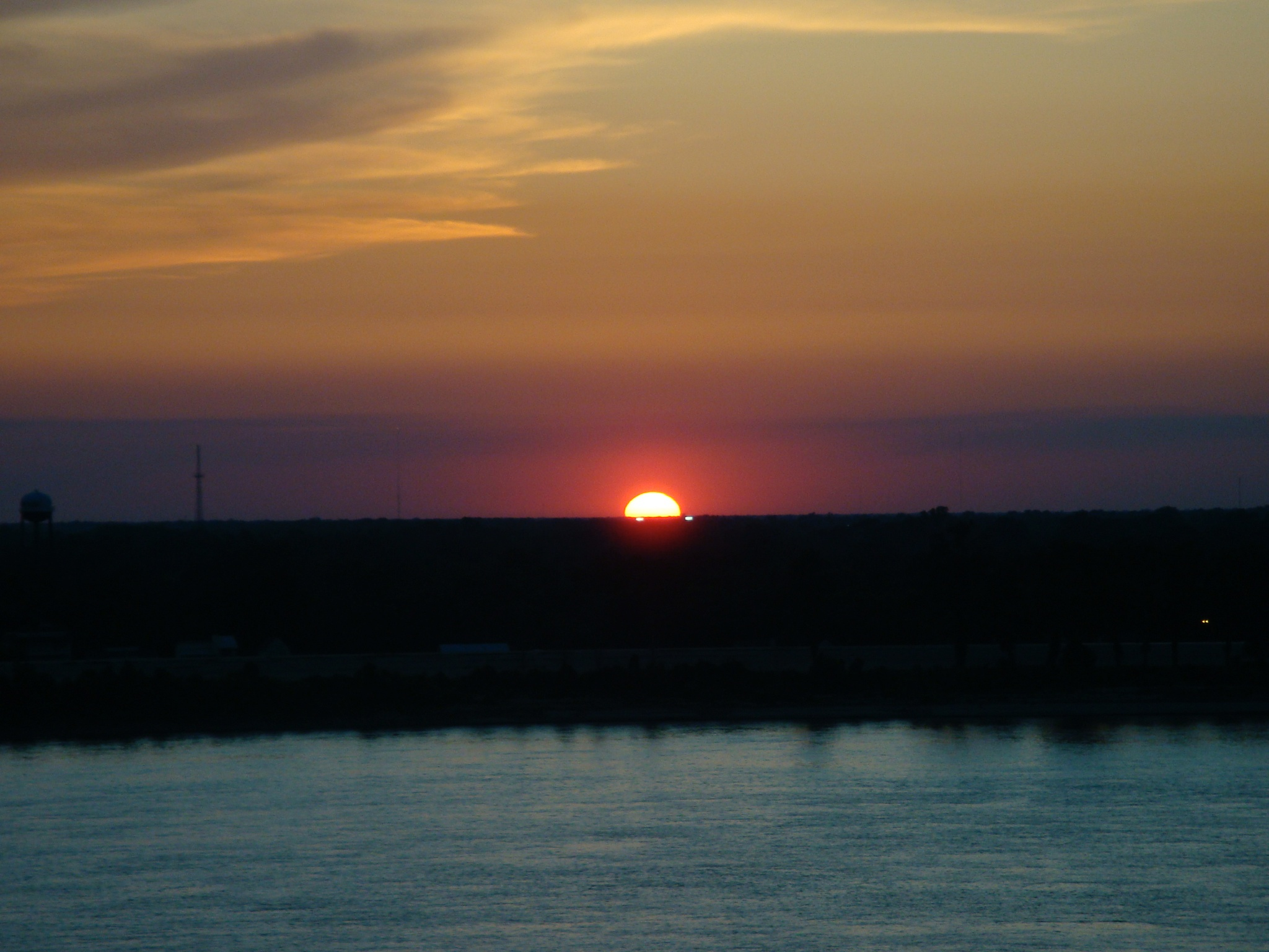 Sunset in Baton Rouge Louisiana