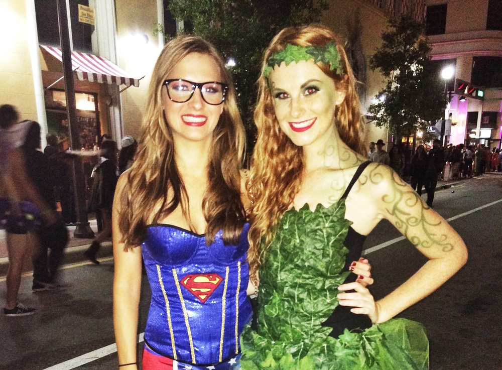 Poison Ivy and Super woman Costume Halloween