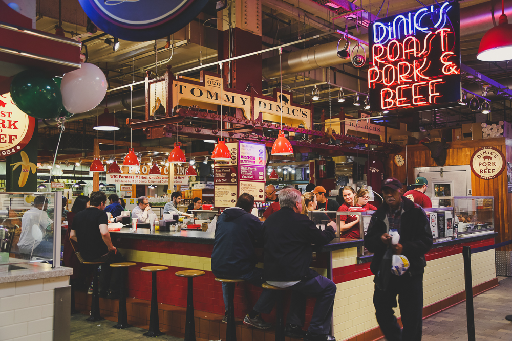 The Reading Terminal Market in Philly