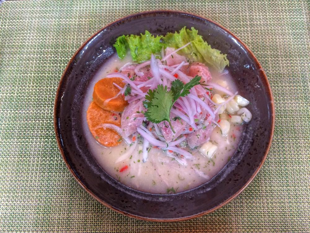 Ceviche at La Mar in Peru