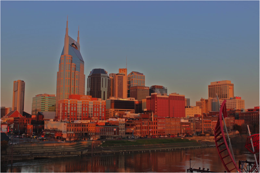 NASHVILLE TENNESSEE SKYLINE BY A SOUTHERN GYPSY