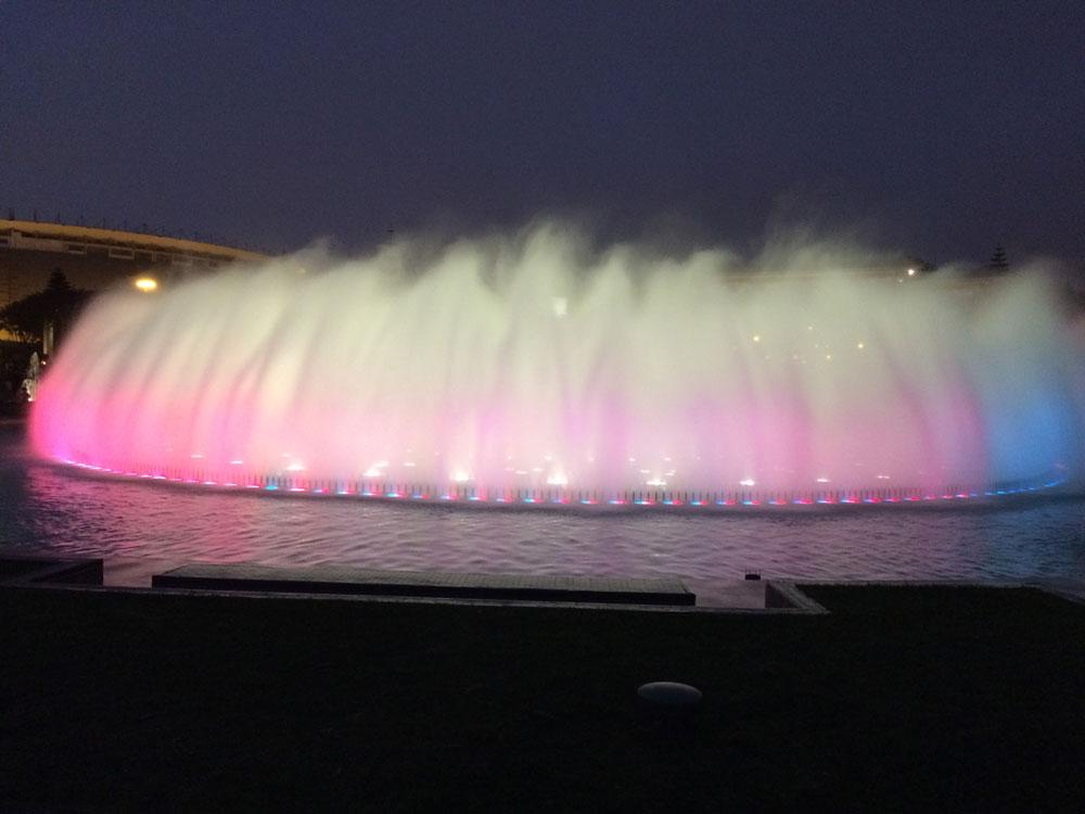 Water fountains at PARQUE DE LA RESERVA in Lima Peru