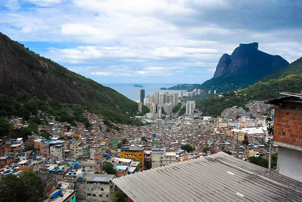 View of the favela's of RIO - Photo by amanda o'donnell
