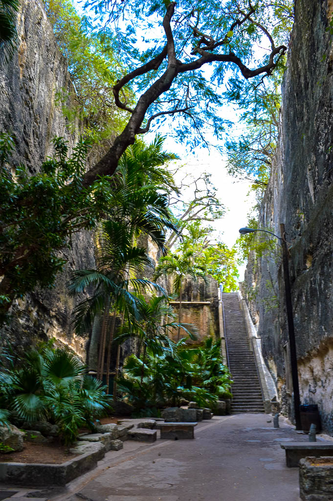 Climb the steps of the queen's castle in Nassau The Bahamas