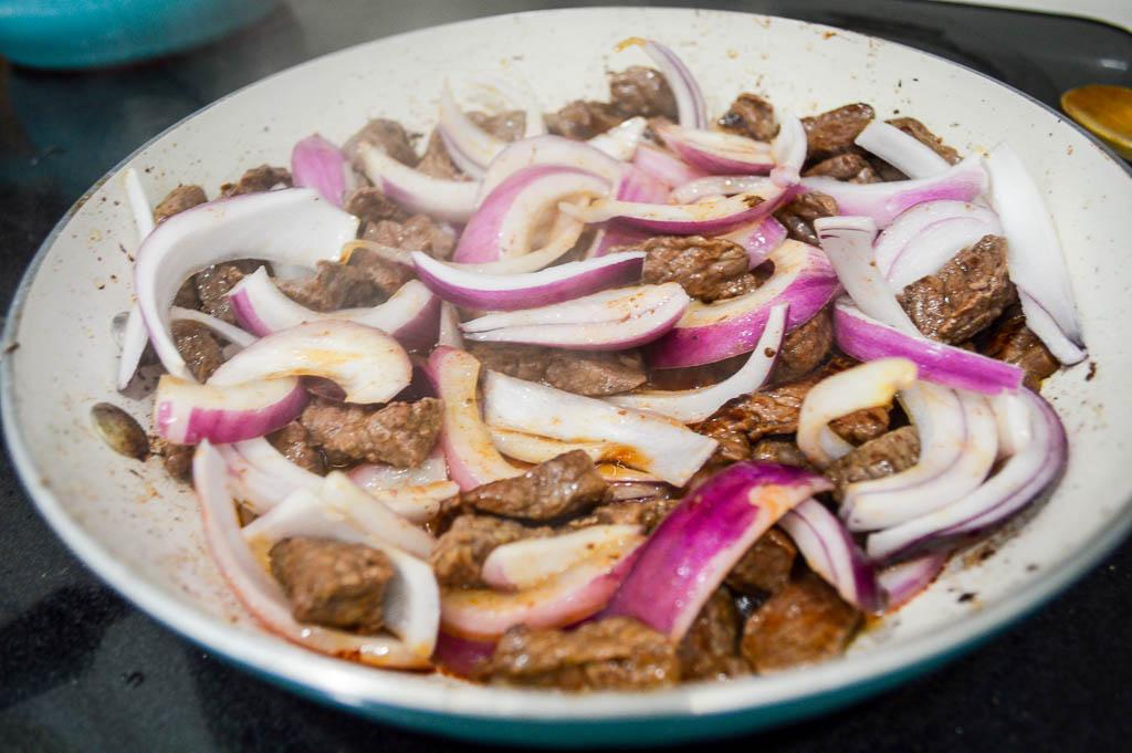 Cooking Lomo Saltado Recipe