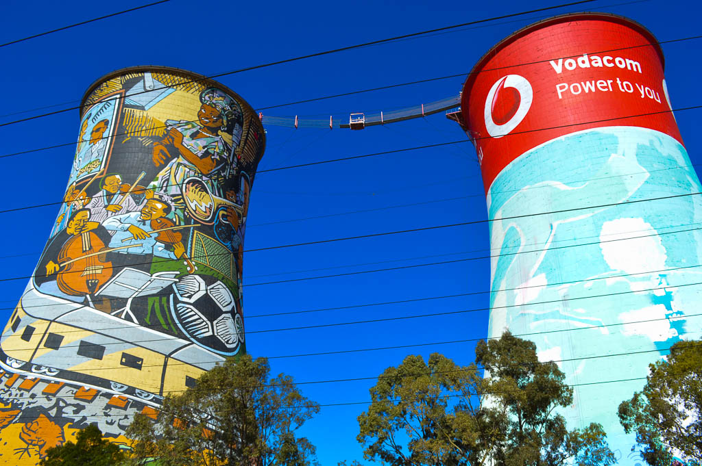 BUNGEE OR BASE JUMP FROM THE ORLANDO TOWERS IN SOUTH AFRICA