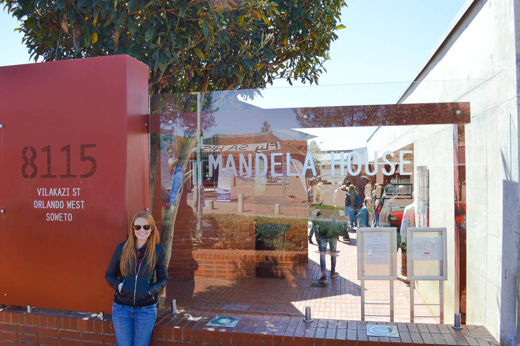 VISITING NELSON MANDELA'S HOUSE, SOWETO, SOUTH AFRICA
