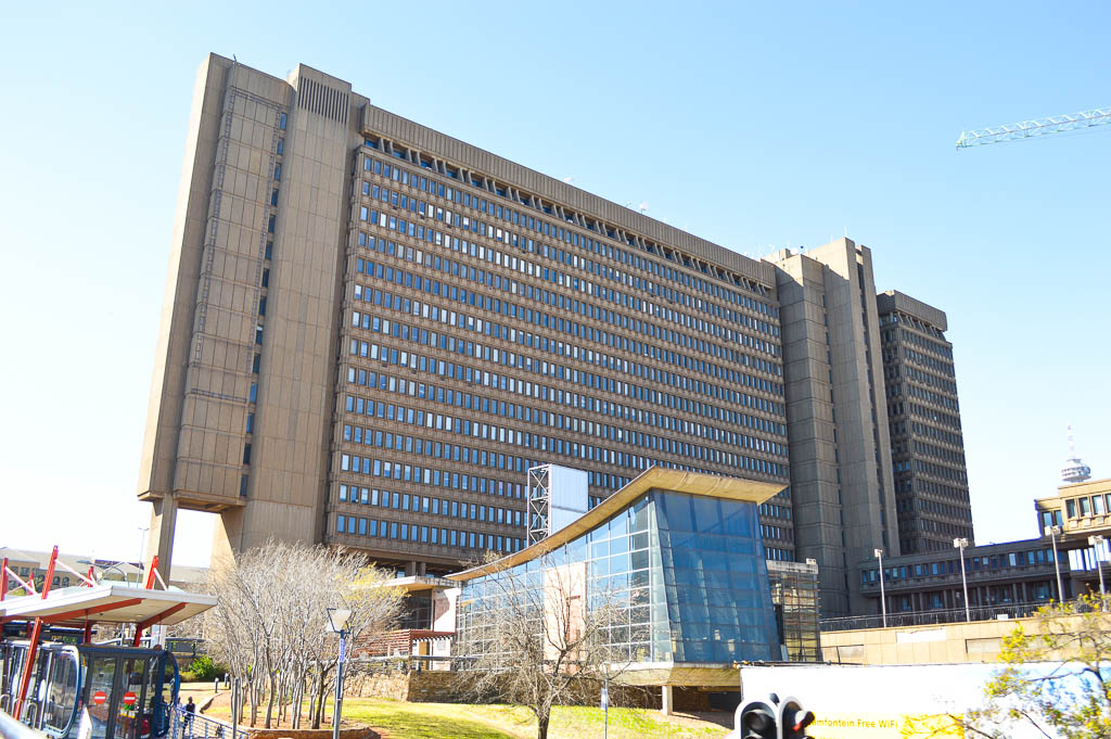 An example of the old Brutalist Architecture of the Apartheid Government