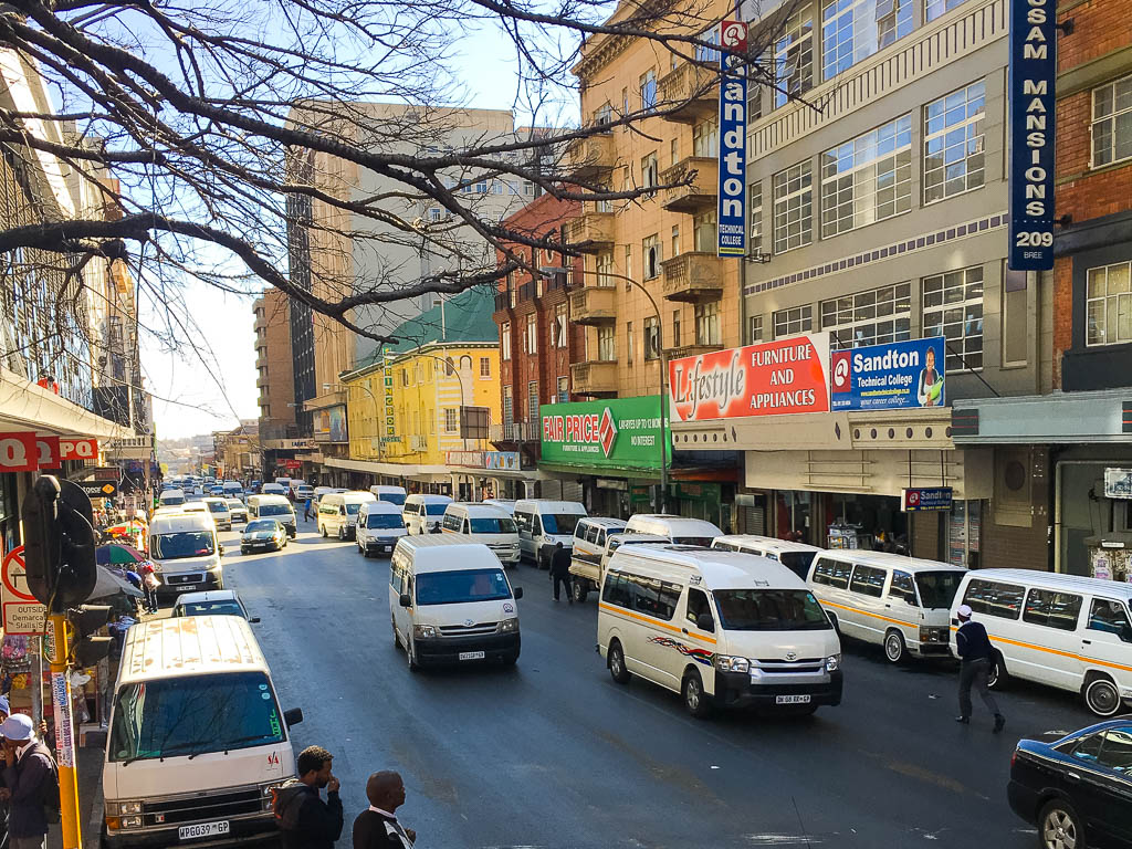 Oncoming Taxi's in Johannesburg, South Africa