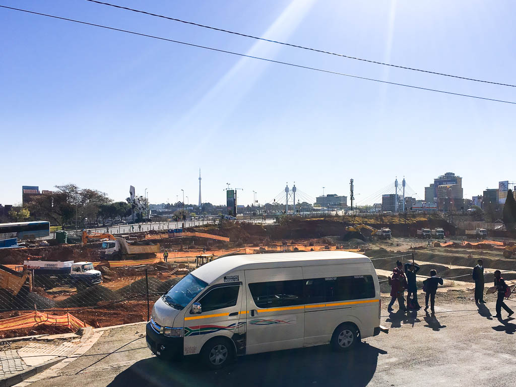 Construction in Johannesburg