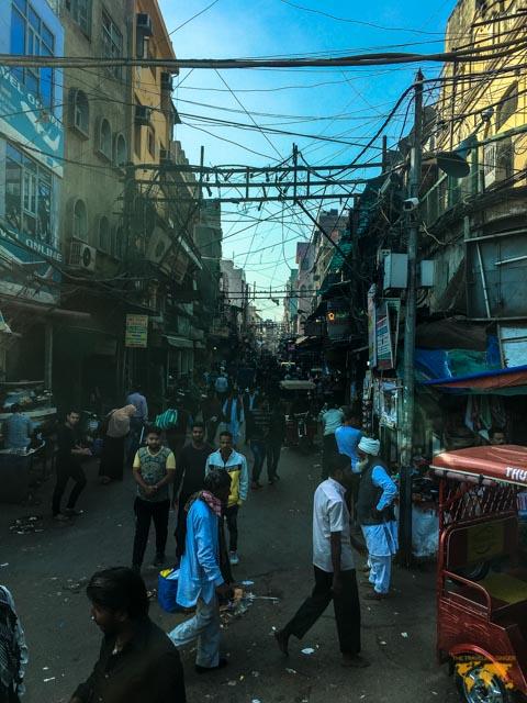 my first day in india: Chandi chowk market in delhi