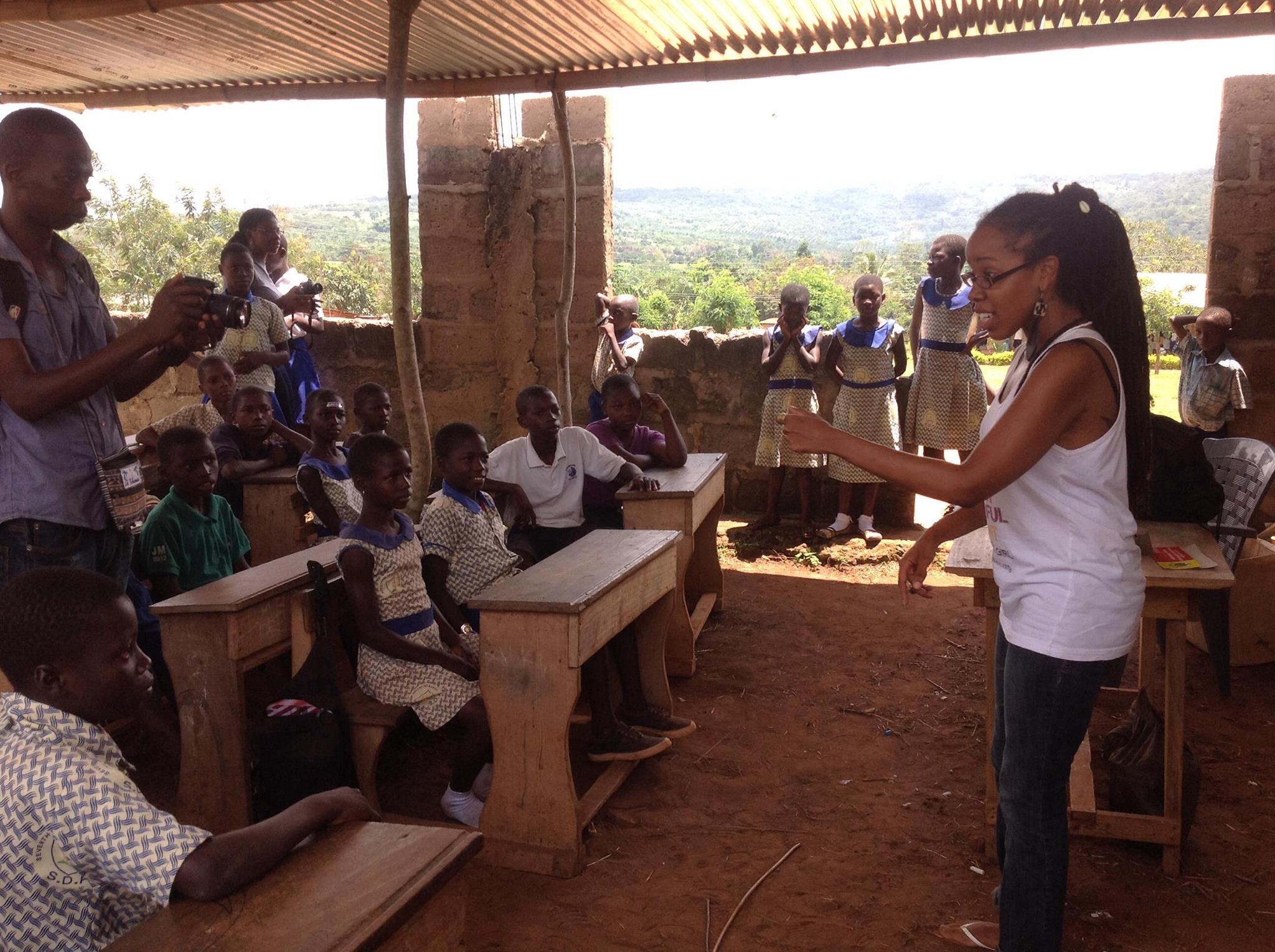 F.R.E.S.H.H Inc. Executive Director, Goldie Dean Conducting a workshop in Konko Village