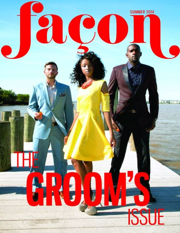Cover Feature & Featured Spread for Groom's Issue of Facon Magazine