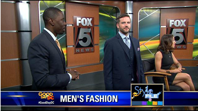 Devlon Paris featured on The Style File - Fox 5 Good Day DC - to discuss Men's Suits.