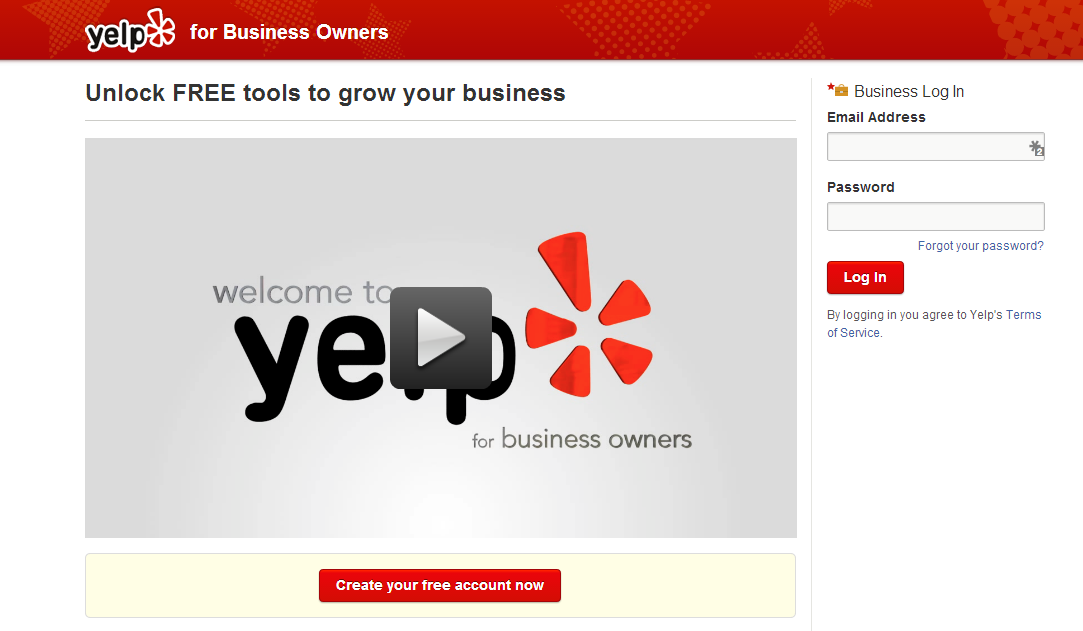 Sign Up For Yelp Business