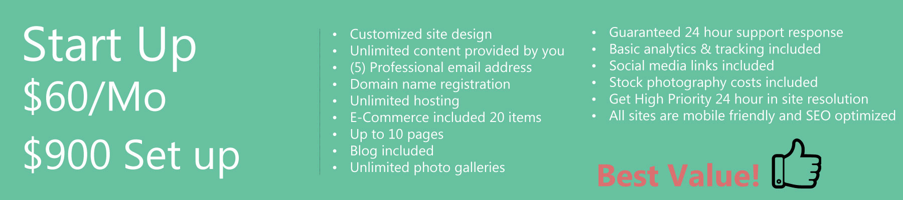 Website Design Start Up Package